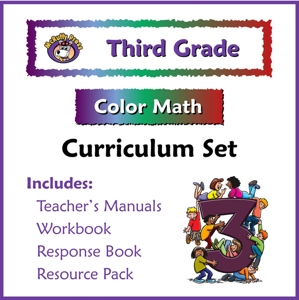 Third Grade Color Math Curriculum