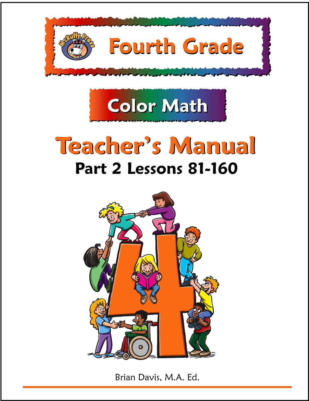 Fourth Grade Color Math Teacher's Manual Part 2 - McRuffy Press