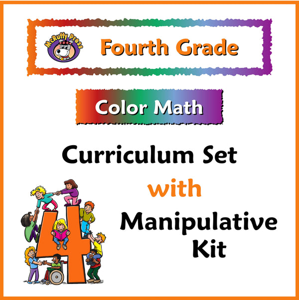 Fourth Grade Color Math Curriculum and Manipulative Kit - McRuffy Press