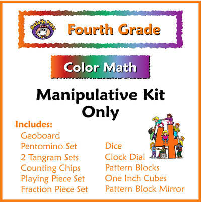 Fourth Grade Color Math Manipulative Kit - McRuffy Press