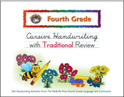 Fourth Grade Cursive with Traditional Review Handwriting Book - McRuffy Press