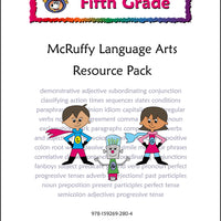 Fifth Grade Language and Grammar Resource Pack - McRuffy Press