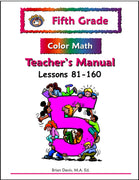 Fifth Grade Color Math Teacher's Manual Part 2 - McRuffy Press