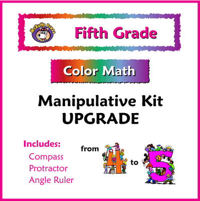 Fifth Grade Color Math Manipulative Upgrade 4 to 5 Kit - McRuffy Press