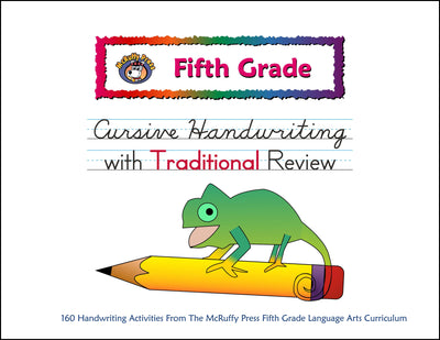Fifth Grade Cursive with Traditional Review Handwriting - McRuffy Press