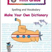 Fifth Grade Spelling and Vocabulary Make Your Own Dictionary - McRuffy Press