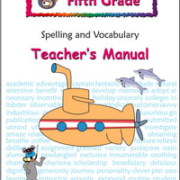 Fifth Grade Spelling and Vocabulary Teacher's Manual - McRuffy Press