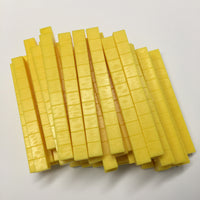 Base Ten Rods Yellow (set of 50) - McRuffy Press