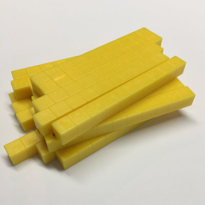 Base Ten Rods Yellow (set of20) - McRuffy Press