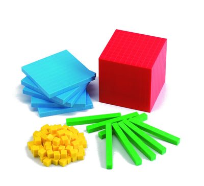 Color-Coded Plastic Base Ten Set - McRuffy Press