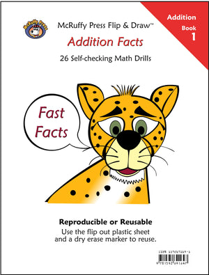 McRuffy Fast Facts Flip and Draw Books - Addition Facts (Book 1) - McRuffy Press