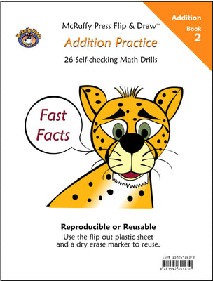 McRuffy Fast Facts Flip and Draw Books - Addition Practice (Book 2) - McRuffy Press