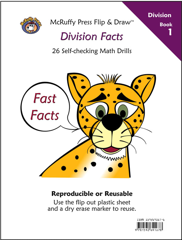 McRuffy Fast Facts Flip and Draw Books - Division Facts (Book 1) - McRuffy Press