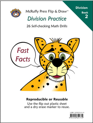 McRuffy Fast Facts Flip and Draw Books - Division Practice (Book 2) - McRuffy Press