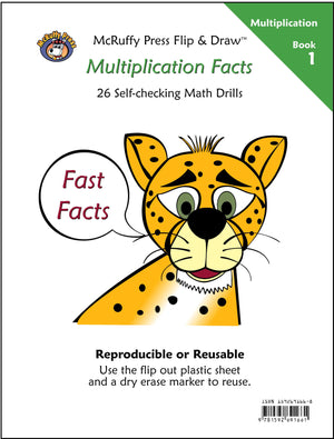 McRuffy Fast Facts Flip and Draw Books - Multiplication Facts (Book 1) - McRuffy Press