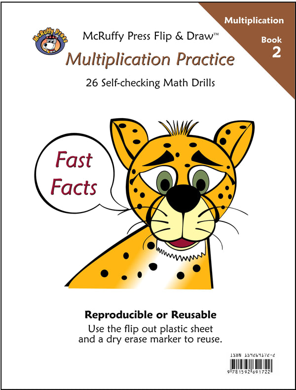 McRuffy Fast Facts Flip and Draw Books - Multiplication Practice (Book 2)