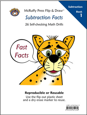 McRuffy Fast Facts Flip and Draw Books - Subtraction Facts (Book 1) - McRuffy Press