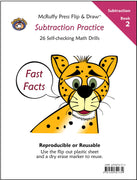 McRuffy Fast Facts Flip and Draw Books - Subtraction Practice (Book 2) - McRuffy Press