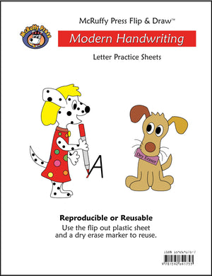 Letter Practice Flip and Draw Book - Modern - McRuffy Press