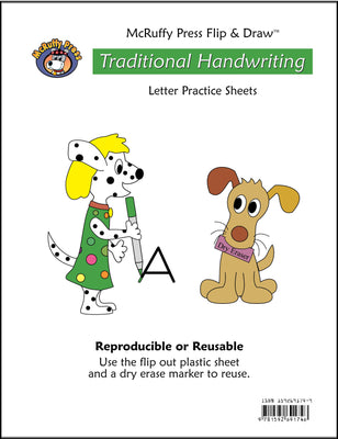 Letter Practice Flip and Draw Book - Traditional - McRuffy Press