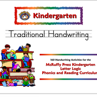 Kindergarten Letter Logic Traditional Handwriting Book - McRuffy Press