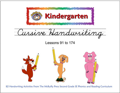 Kindergarten SE Transition Pack Cursive Handwriting - McRuffy Press