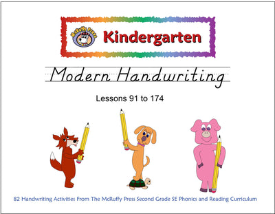 Kindergarten SE Transition Pack Modern Handwriting - McRuffy Press