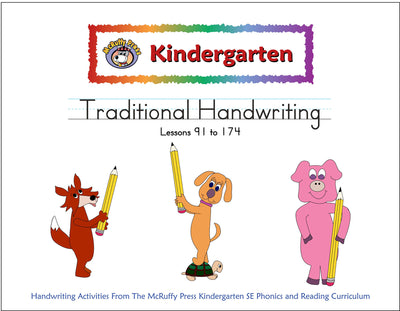Kindergarten SE Transition Pack Traditional Handwriting - McRuffy Press