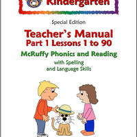 Kindergarten SE Phonics and Reading Teacher's Manual (Part 1) - McRuffy Press