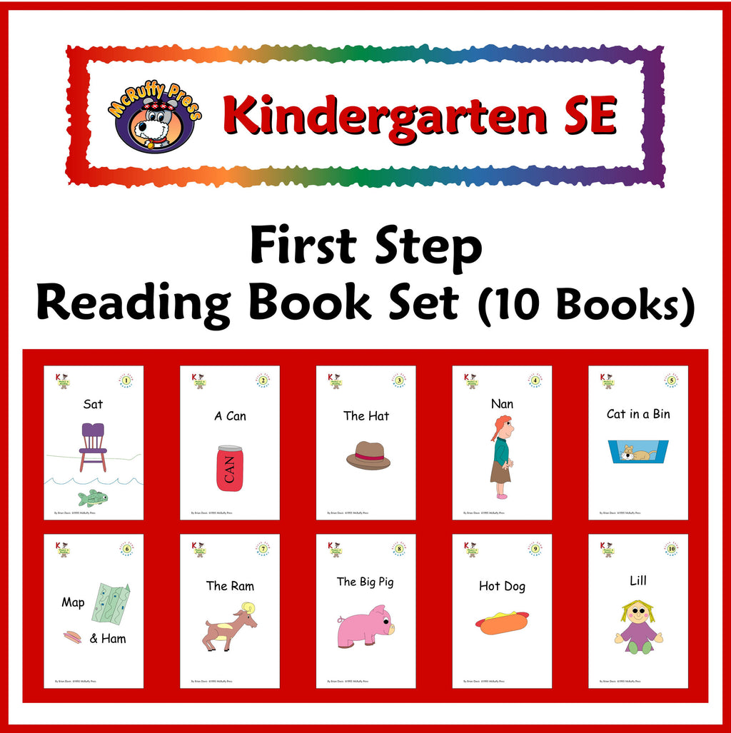Kindergarten SE Phonics First Step Readers - McRuffy Press