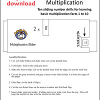 Multiplication Sliders Download - McRuffy Press