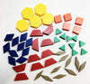 Pattern Blocks (50 piece set)  1 CM Plastic - McRuffy Press