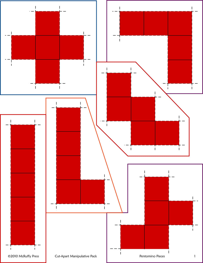 It is a photo of Pentominoes Printable pertaining to transparent