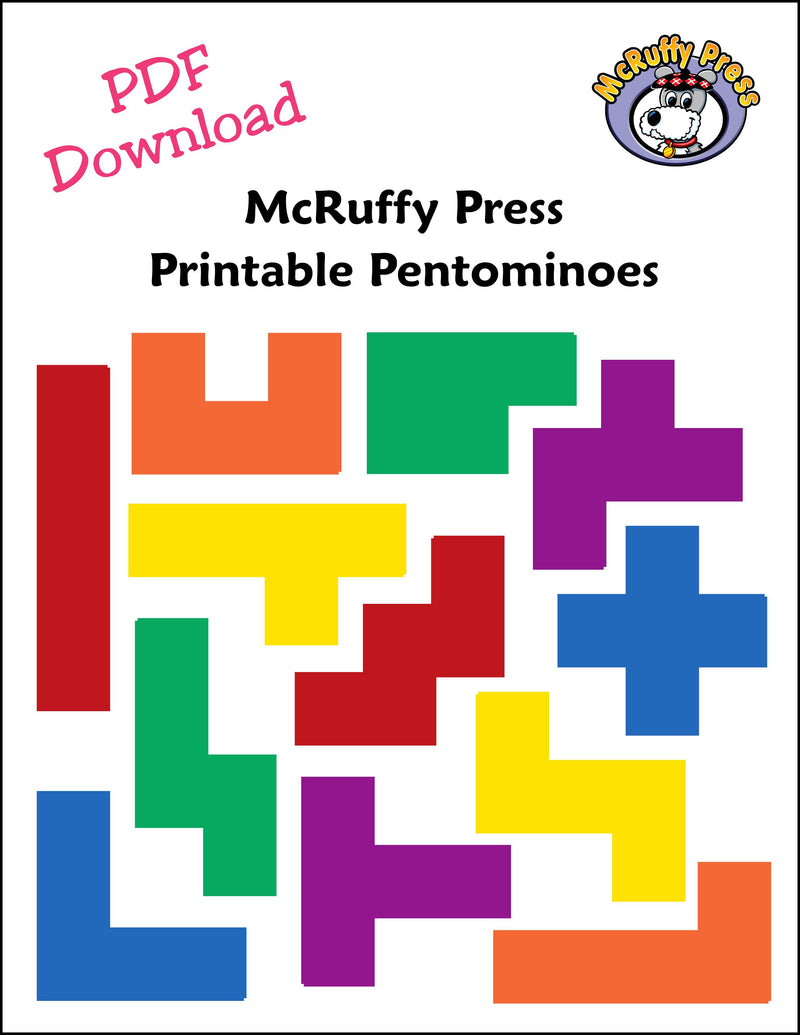 photograph about Pentominoes Printable named Pentmino Sets Obtain