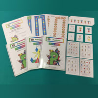 Preschool Color Math Curriculum with Manipulative Kit