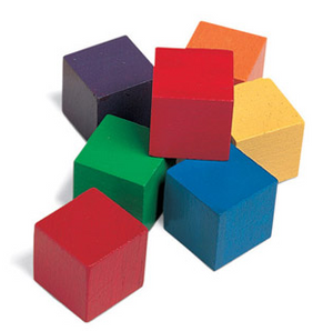 One Inch Wood Cubes Tub - McRuffy Press