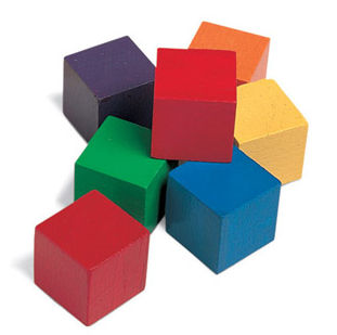 One Inch Wood Cubes Tub