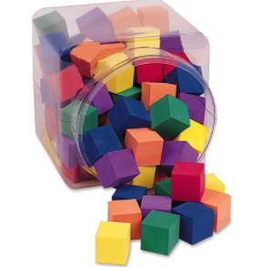 One Inch Foam Cubes Tub - McRuffy Press