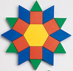 Pattern Blocks (50 Piece set) 1 CM Wood - McRuffy Press
