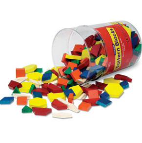 Pattern Blocks (250 piece set)  1 CM Wood - McRuffy Press