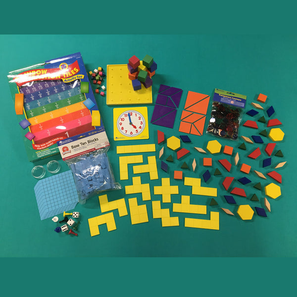 Second Grade Color Math Curriculum with Manipulative Kit