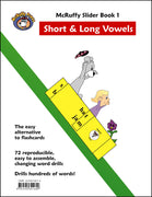 McRuffy Press Sliders - Short and Long Vowels (Book 1) - McRuffy Press