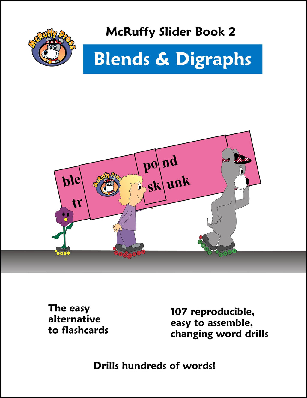McRuffy Press Sliders - Blends and Digraphs (Book 2) - McRuffy Press