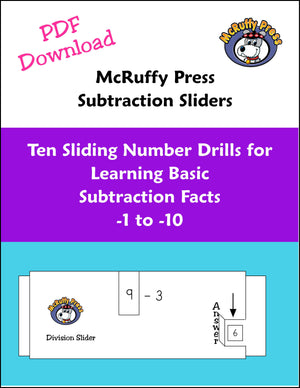 Subtraction Sliders Download - McRuffy Press