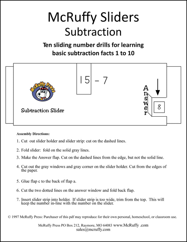 Subtraction Sliders Download