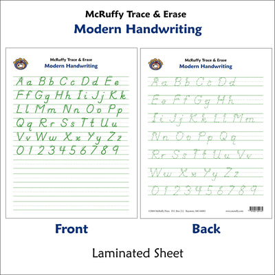 Trace and Erase - Modern - McRuffy Press