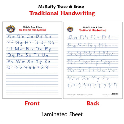 Trace and Erase - Traditional - McRuffy Press