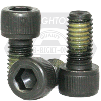 SOCKET HEAD CAP SCREWS COARSE ALLOY NYLON-PATCH THERMAL BLACK OXIDE