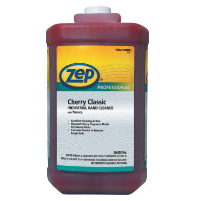 Cherry Classic Industrial Hand Cleaner with Pumice, Cherry, Bottle, 1 gal