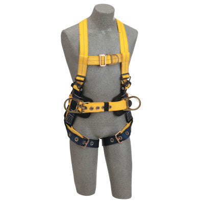 Delta Construction Style Positioning/Climbing Harnesses, Front & Back D-Rings,XL